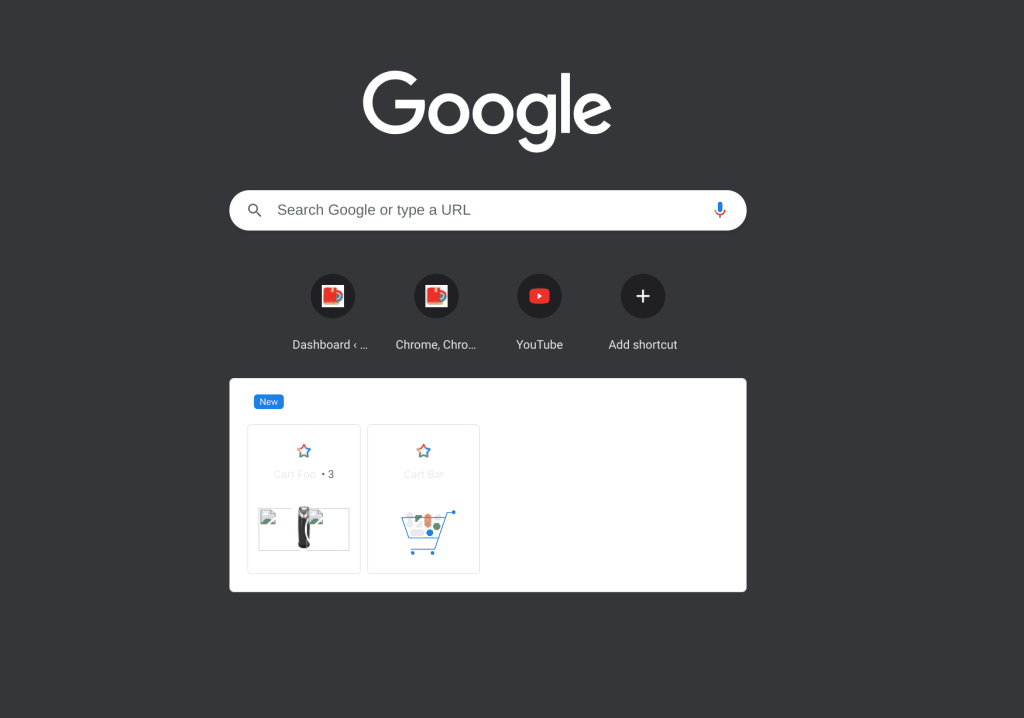 Chrome Cart on Canary Channel